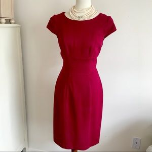 White House Black Market Dresses - {WHBM} Red Sheath (Pencil) Dress